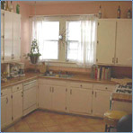 Kitchen with Italian Tile Floors & Euro Cabinets