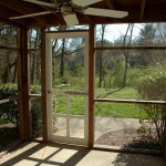 View from Screened-In Porch with Ceiling Fan